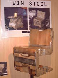 Tabouret convertible en chaise 1