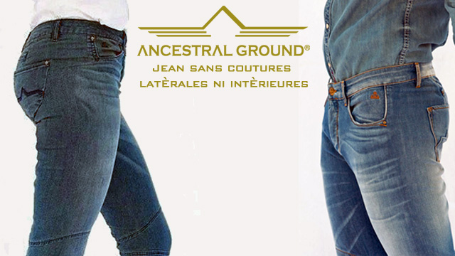 "Jean sans couture Ancestral Ground ""Unique"" 1"