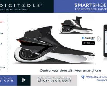 SmartShoe 01 : basket connectée chauffante avec laçage automatique 6