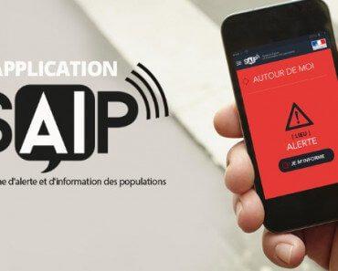 Application SAIP : système d'alerte et d'information des populations 5