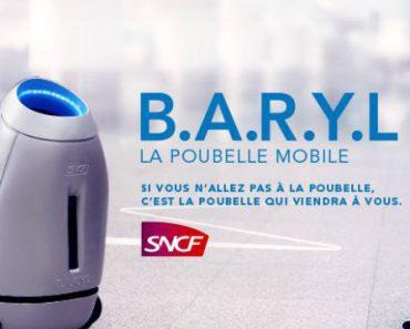 Baryl : robot poubelle mobile de la SNCF 1