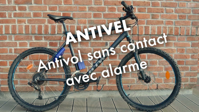 Antivel : l'antivol de vélo sans contact avec alarme 1