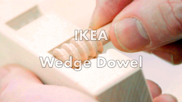 Wedge Dowel : la cheville en bois IKEA pour monter un meuble sans outils 1
