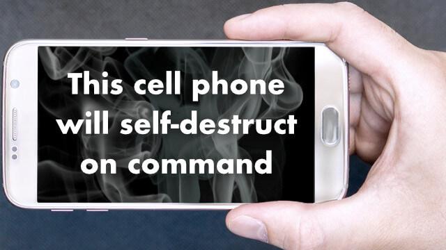 Dispositif d'autodestruction de smartphone à distance 1
