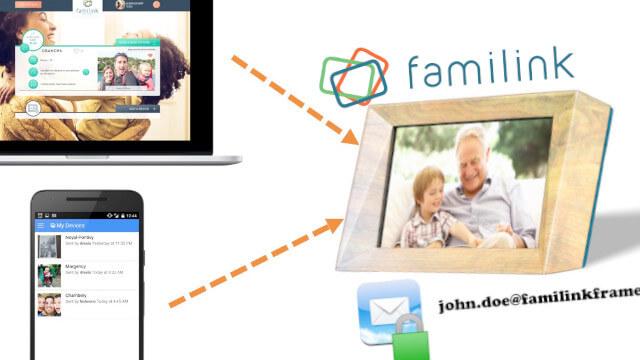 Familink : cadre photo connecté à destination des seniors... 1