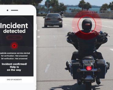 Cosmo Connected : feu-stop amovible connecté pour casque avec alerte des secours 2