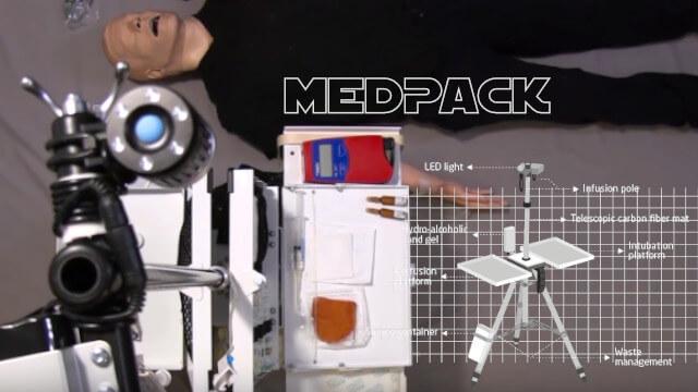 MedPack : station médicale d'urgence portative 1