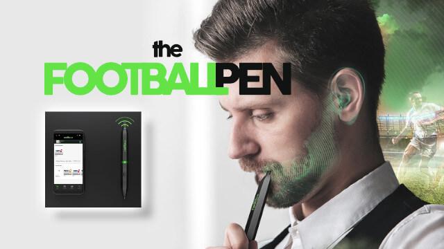 FootballPen : stylo radio diffusant le son par conduction osseuse 1