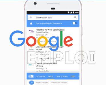 Google Emploi : moteur de recherche pour trouver un job 4