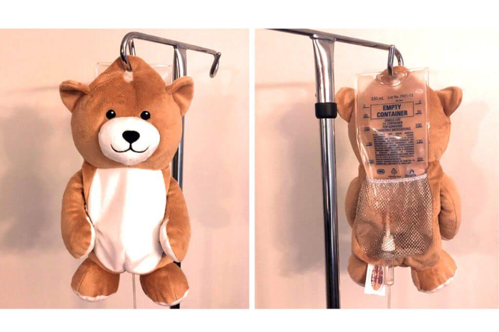 medi teddy peluche perfusion