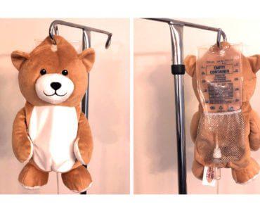 Medi Teddy : peluche pour cacher les perfusions 3