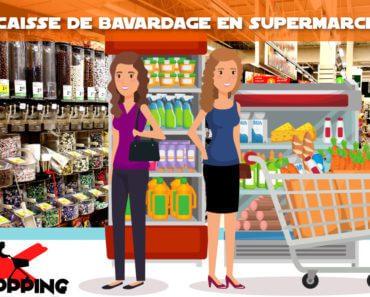 Caisse de bavardage en supermarché 3