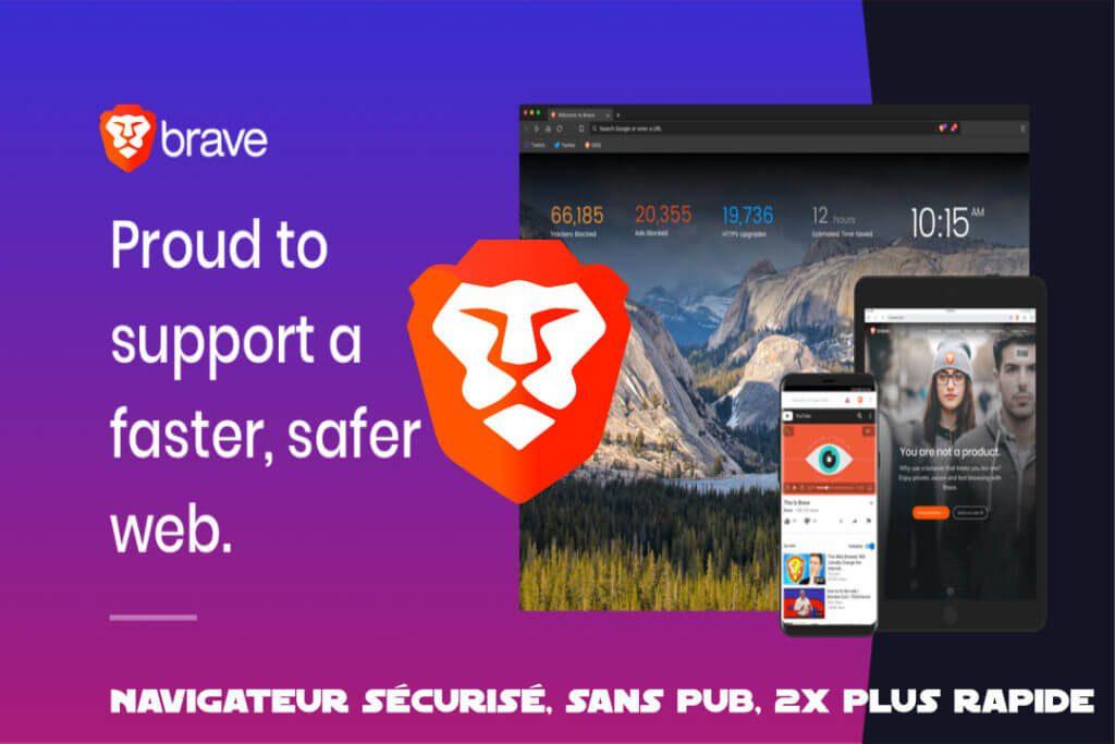 Brave navigateur sécurisé sans pub