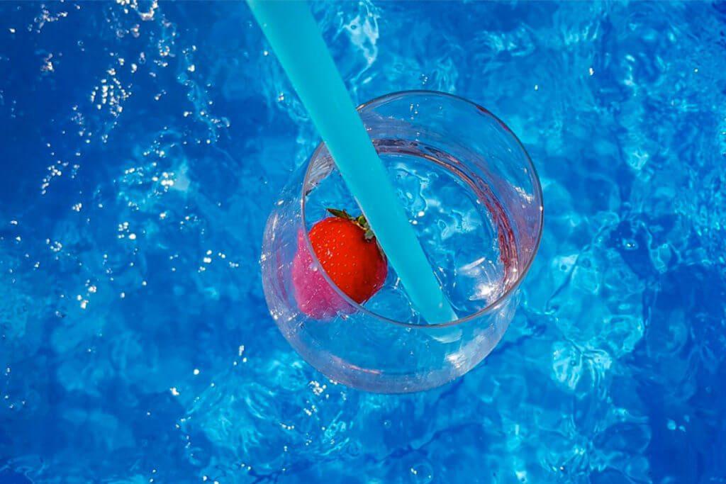 Paille en plastique cocktail