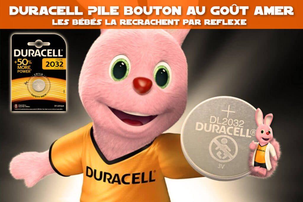 Duracell : Pile bouton au goût amer