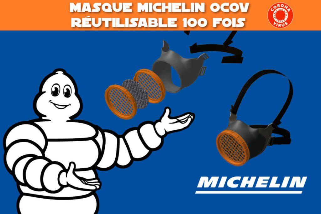 masque michelin ocov réutilisable 100 fois - coronavirus