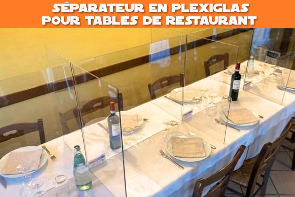 separateur plexiglas pour tables de restaurant
