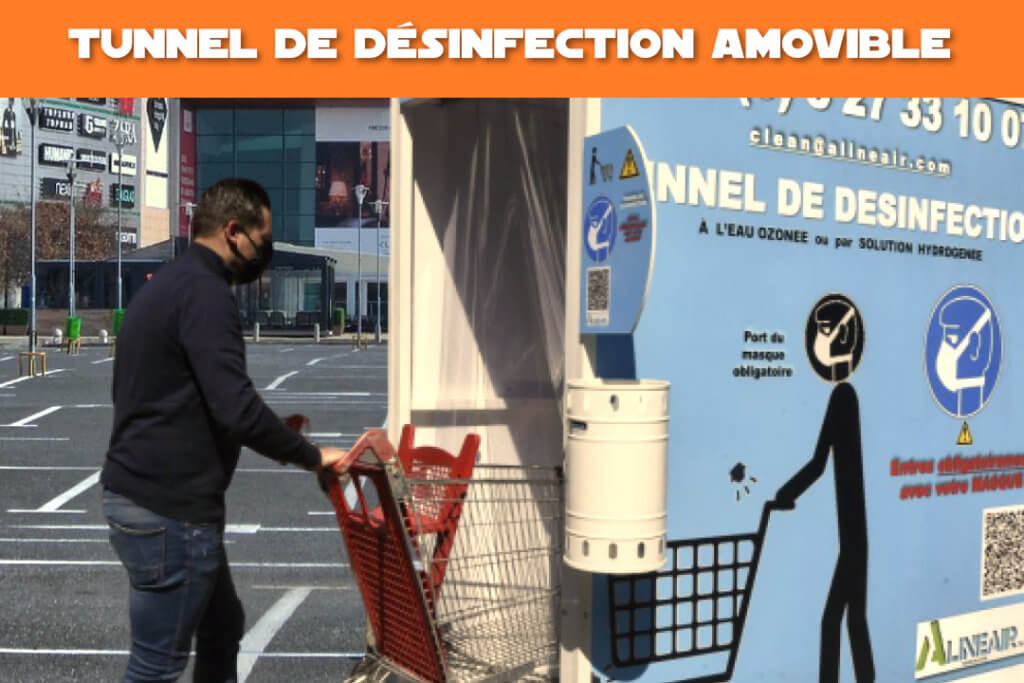 tunnel de désinfection amovible alinéair anti covid19