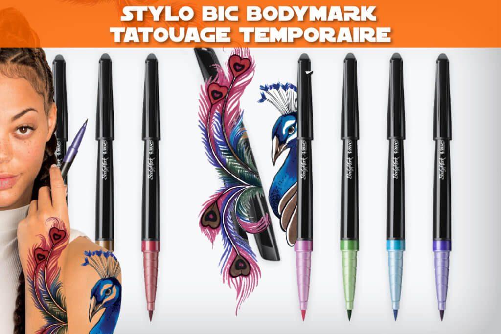 stylo bic bodymark : tatouage temporaire