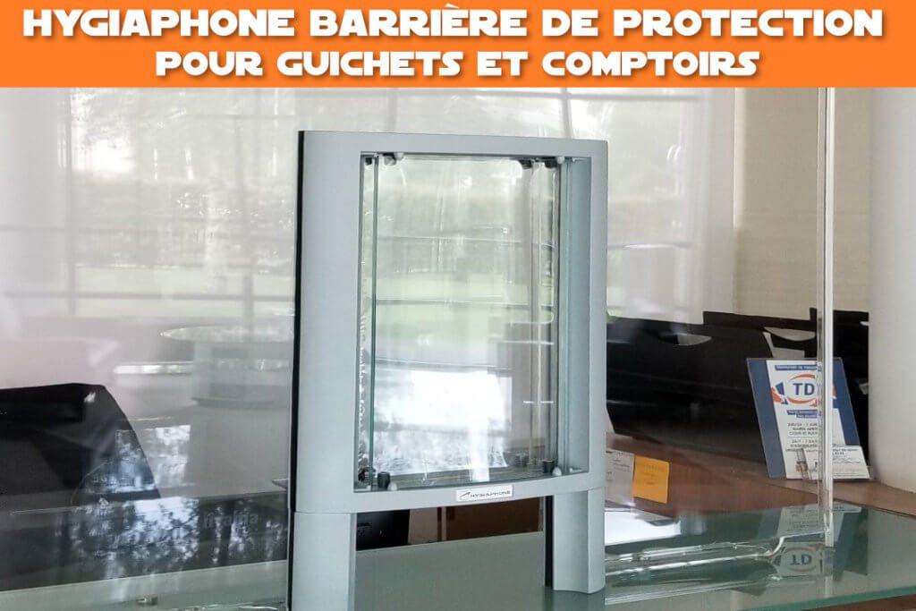 hygiaphone barriere de protection pour guichets et comptoirs