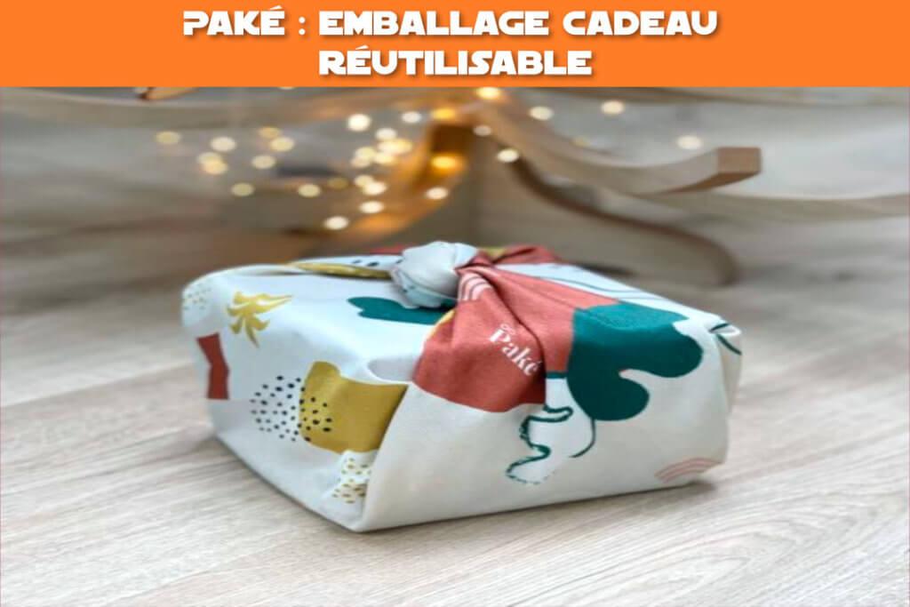 paké emballage cadeau réutilisable