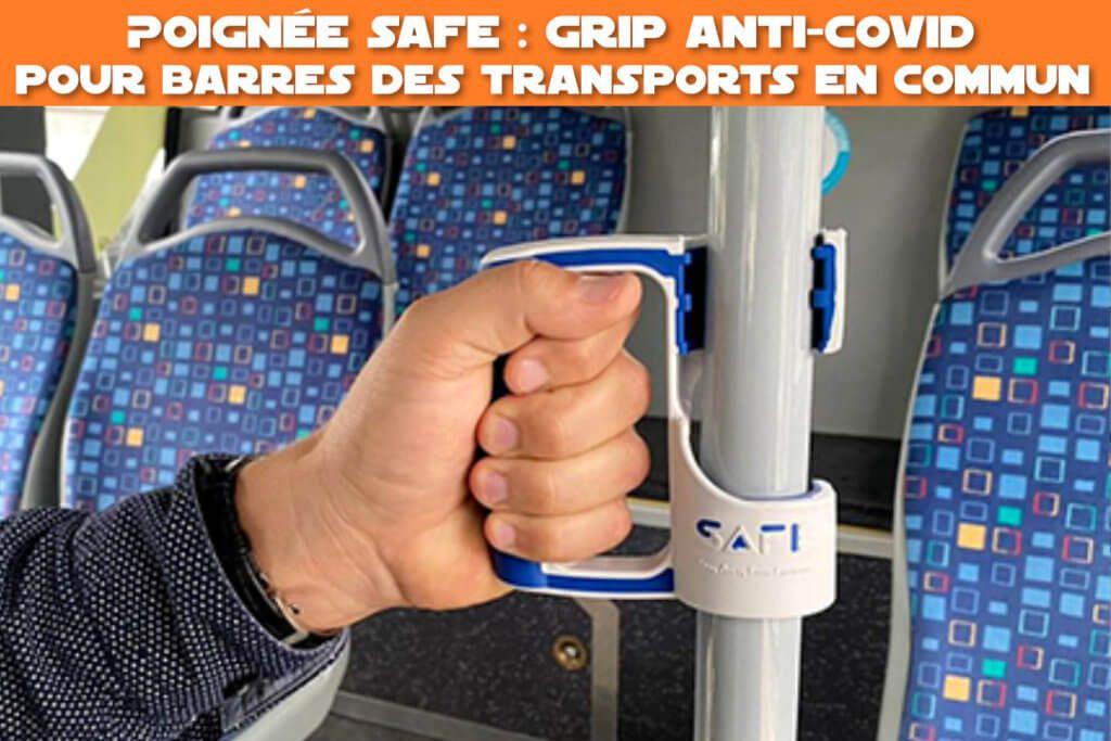 poignée safe : grip anti-covid pour barres de transports en commun