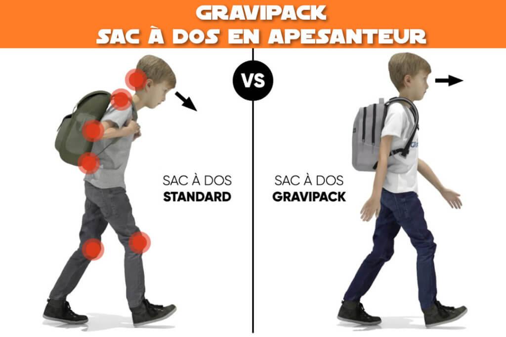 Gravipack : sac à dos de randonnée et scolaire en apesanteur sur les épaules